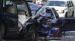 Fatal Car Accident Stock Footage