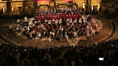 Symphony orchestra performance 4 Stock Footage