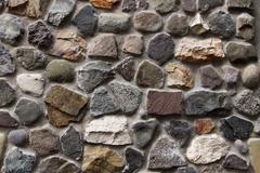 stone wall background horizontal - stock photo