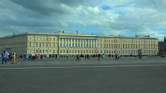 The General staff on Palace square. Saint-Petersburg. 4K. Stock Footage