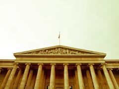 Stock Photo of Retro looking British Museum, London