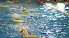 swim training 5 - stock footage