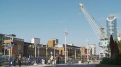 Portsmouth, regeneration, UK - stock footage