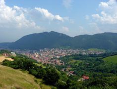 Travelling in Brasov city - stock photo