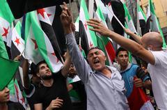 Vapaa syyria, syrian liput Kuvituskuvat
