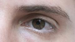 Stock Video Footage of Closeup Of Young Male Eye