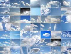 Stock Photo of Blue sky collage