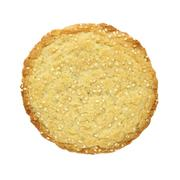 Sesame cookies isolated on white Stock Photos