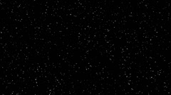 Stock Video Footage of 4K Twinkling stars abstract background, points monochromatic realistic