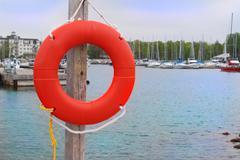 orange buoy - stock photo