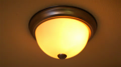 Ceiling Lamp Turns Off 01 HD Stock Footage