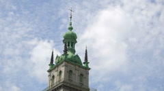 Ukraine, L'viv city atmosphere .Church Timelapse. May 28, 2014 Stock Footage