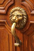 Ornated door hardware Stock Photos
