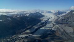 Glacier Bay Aerial. Carroll Glacier. Stock Footage
