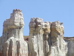 Towering rocks in Coal Mine Canyon Stock Photos
