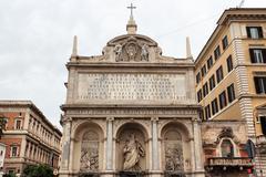 The fontana dell'acqua felice in rome Stock Photos