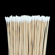 Cotton swabs isolated on black background Stock Photos