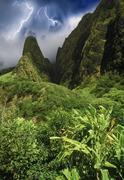 Storm approaching Hawaii Island Stock Photos