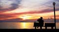 Man Takes Photo of Beautiful Sunset. Footage