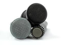 Microphone set Stock Photos