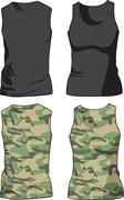 Black and Military Shirts template. Vector Stock Illustration