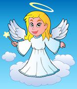 Angel theme image  Stock Illustration
