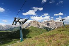 Dolomites and Sella pass - stock photo