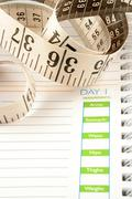 diet journal - stock photo