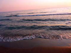 Stock Photo of Sunset in Agios Gordios