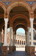 Seville archways - stock photo