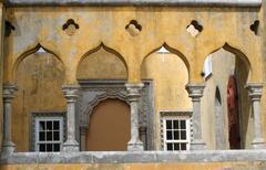 palace archways - stock photo