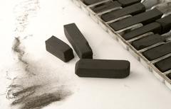 artist charcoal - stock photo