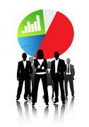 Business economics Stock Illustration