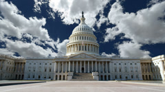 United States Capitol with Churning Clouds Stock Footage