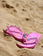 pink sandals - stock photo