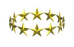 Twelve golden stars Stock Illustration