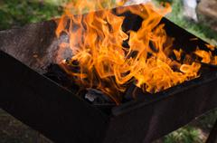 Burning embers. hot and fire Stock Photos
