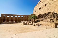 ram-headed sphinxes - stock photo
