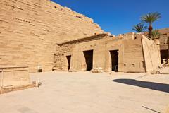 temple complex of karnak, egypt - stock photo