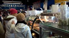 Fast food restaurants at the Fisherman's Wharf, San Francisco Stock Footage