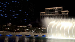 Show of the musical Fountains of Bellagio ( hotel and casino). Stock Footage
