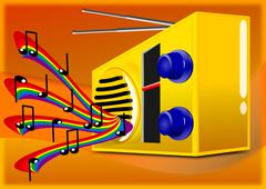 Musiikin radio Piirros