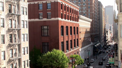 Post Street of San Francisco. California, USA. Stock Footage