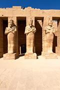 Pharaoh statues in karnak temple Stock Photos