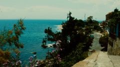 Panoramic view from Nessebar Stock Footage