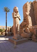 Pharaoh ramses ii enormous stone statue Stock Photos