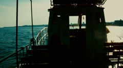 Boat driving on the sea Stock Footage