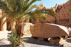 ruins of karnak temple complex - stock photo