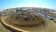 Motocross Professional Championship Race at Hangtown Sacramento Ca. 250 Class HD Stock Footage