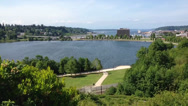 Stock Video Footage of View Of Capitol Lake In Olympia, WA 1